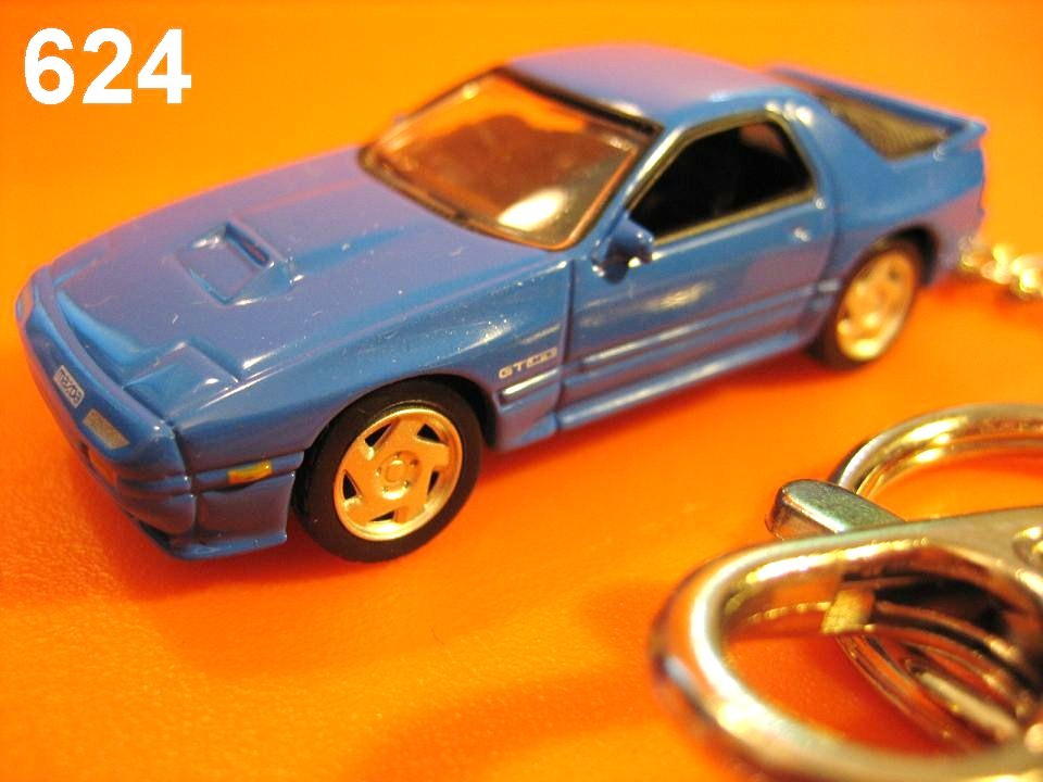 Mazda Savanna RX-7 FC3S (Racing Blue) Die-cast Key Chain